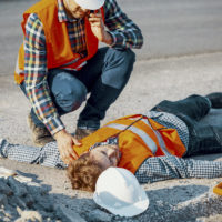 coworker found unconscious worker after accident