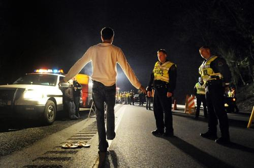 taking a field sobriety test