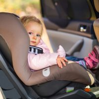 Little girl in carseat