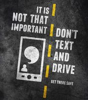 road sign dont text and drive