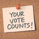 A your vote counts sign