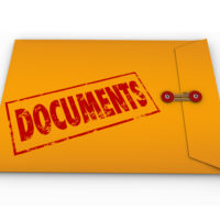 Confidential documents sealed in envelope