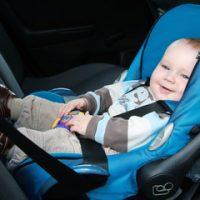 Blue rear car seat
