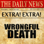 wrongful death newspaper headline
